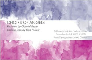 Choirs of Angels – Concert Cancelled