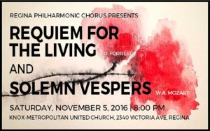 REQUIEM FOR THE LIVING and SOLEMN VESPERS – November 5, 2016
