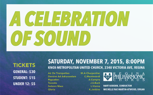 A CELEBRATION OF SOUND – Nov. 7, 2015